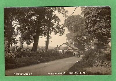 Cricklewood Old Cottages Oxgate Lane RP pc used 1921 Ref M788