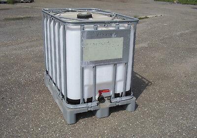 IBC Tank, Regenwassertank 600 / 640 L auf PE-Palette 2.Wahl gebraucht kaufen  Hüttisheim