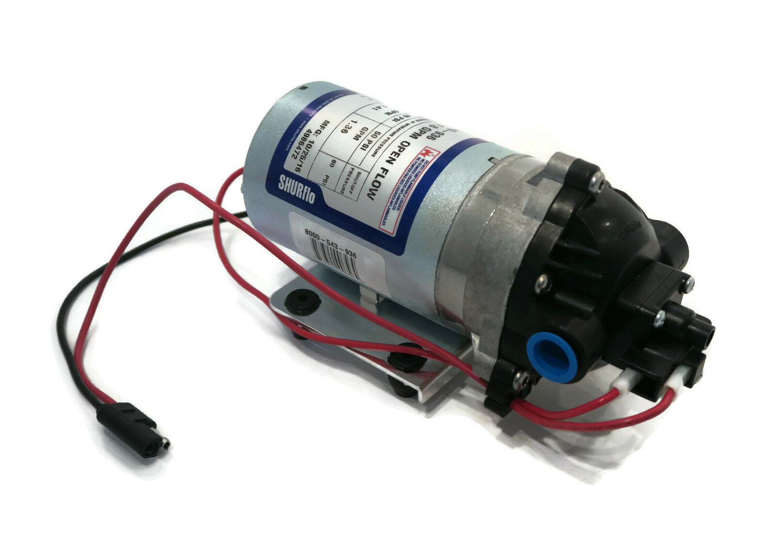 New Shurflo 12v Volt Demand Water Pump W Wiring Harness Camper Rv Trailer Boat