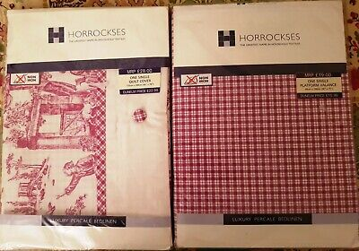 HORROCKSES SINGLE BED SET DUVET COVER AND VALANCE NEW SEALED