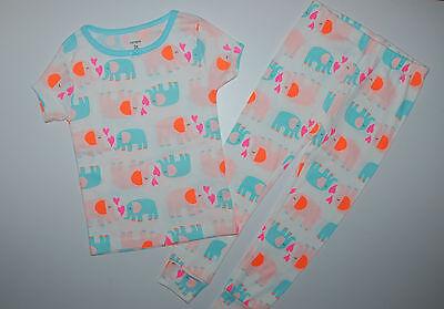 Carter's~USA~98-104~Schlafanzug~Pyjama~Mädchen~Elefant~Nachtwäsch~100% Baumwolle