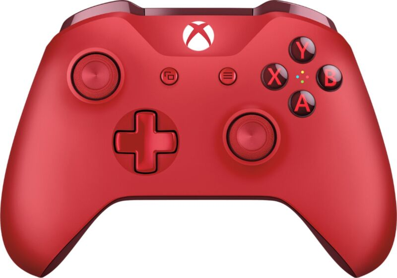 Microsoft - Wireless Controller for Xbox One and Windows 10 - Red
