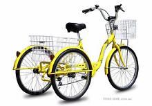 "Trike Bike Adult Tricycle 24"" Aluminium 3 Wheels, YELLOW Arana Hills Brisbane North West Preview"
