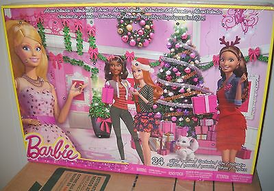#9545 NRFB Barbie Advent Calendar includes 24 Gifts