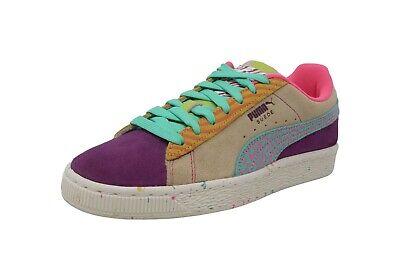 PUMA Suede Jr SR Pale Khaki Green Colorful Kid Fashion Sneakers Youth Boy Shoes