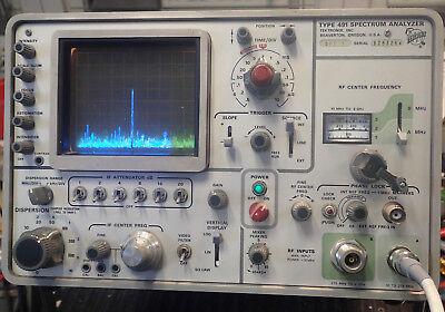 Tektronix 491 Spectrum Analyzer W Opt 1 Tested Working Except Power Button