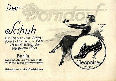 Der Dorndorf Schuh Dorndorf Berlin Damenschuhe Cleopatra Histor. Annonce 1921