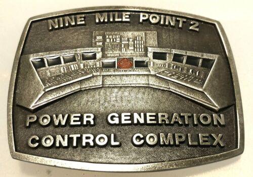 VINTAGE EMBOSSED POWER GENERATION CONTROL COMPLEX NINE MILE POINT 2 BELT BUCKLE
