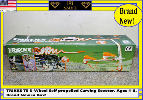 TRIKKE T5 3-Wheel Self propelled Carving Scooter. Ages 4-8. Brand New in Box!