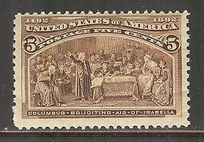 US # 234, 1893 5c Columbian Exposition Issue, Unused NH