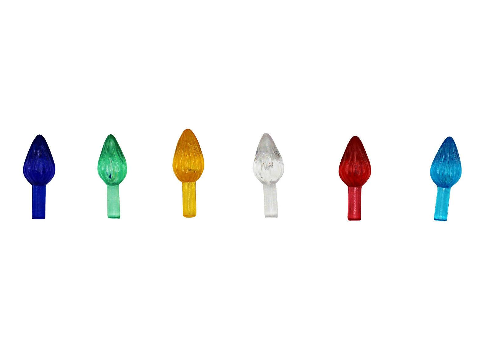 Plastic Lites for Ceramic Christmas Trees, Small Twist, Multi Color, 144 Pcs Christmas Trees