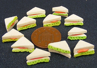 1:12 Scale 12 Sandwiches Dolls House Miniature Kitchen Bread Accessory t
