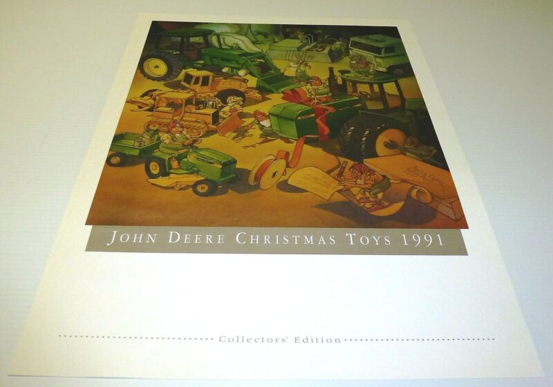 """JOHN DEERE COLLECTOR PRINT """"COLLECTOR TOYS 1991"""" NEW"""