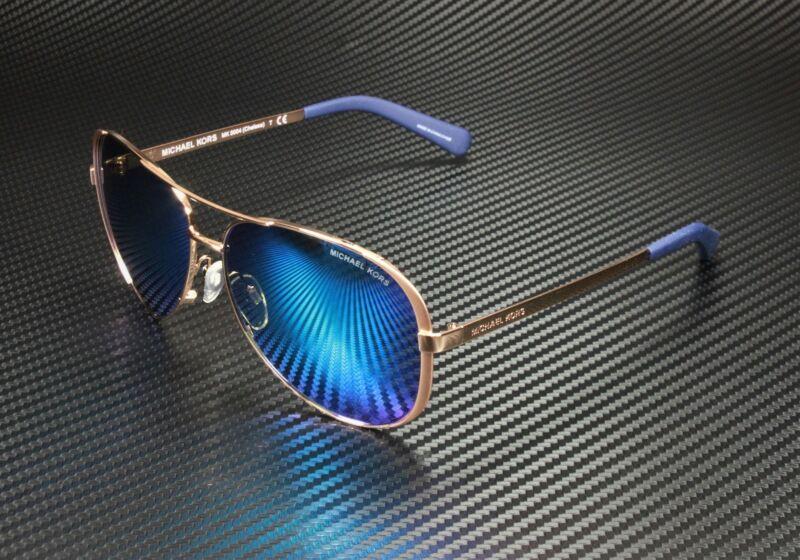 MICHAEL KORS MK5004 100325 Chelsea Rose Gold-Tone Blue 59 mm Women
