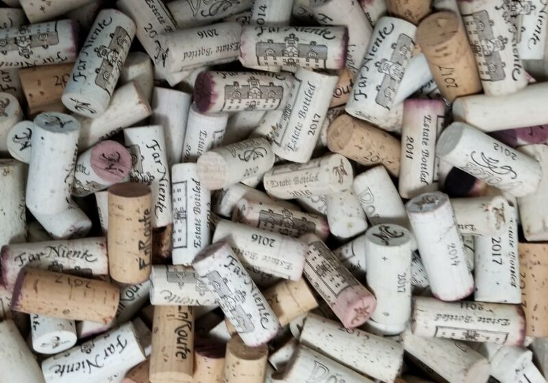Lot Of 500 Used Wine CORKS From High End Napa Wineries