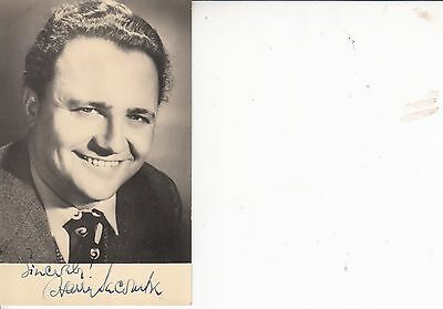 HARRY SECOMBE HAND SIGNED AUTOGRAPHED PHOTO CARD-Actor/Goon/Comedian/Singer