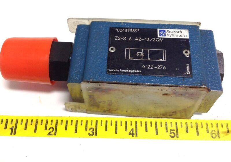 REXROTH HYDRAULIC CHECK VALVE 00439389 / Z2FS 6 A2-43/2QV 102619
