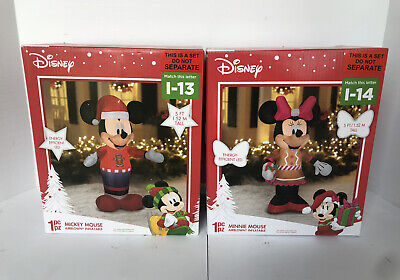 New Christmas Inflatable LED Disney Mickey & Minnie Mouse 5 ft Airblown Outdoor