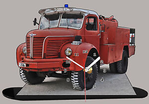 miniature camion de pompier berliet pompier berliet 08 en horloge. Black Bedroom Furniture Sets. Home Design Ideas