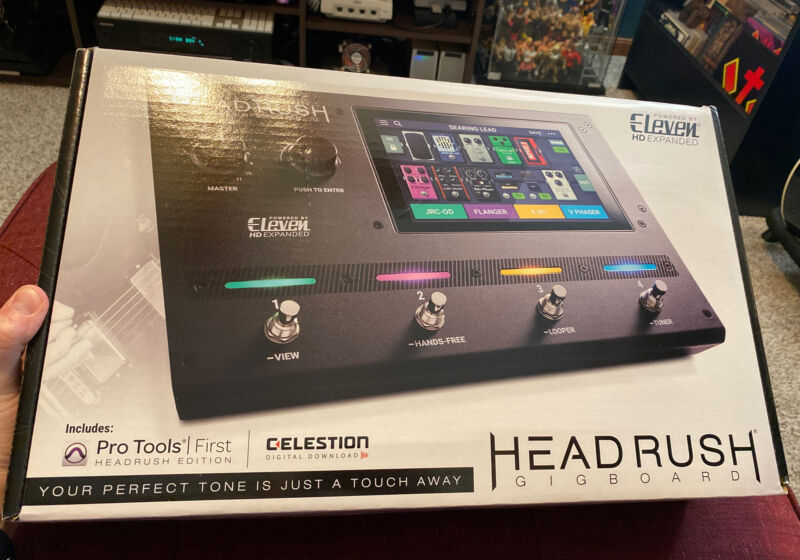 Headrush Gigboard Guitar FX and Amp Modeling Processor Touch Screen Tour Ready