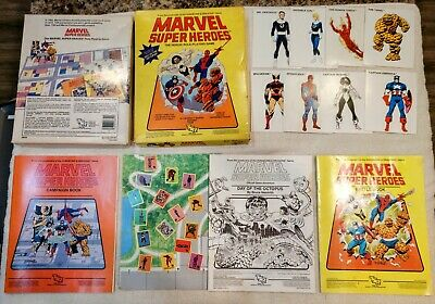 TSR Marvel Super Heroes The Heroic Role-Playing Game boxed set 1984 RARE 1st Ed