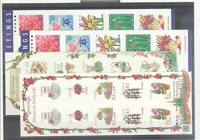 Japan Nice Group Of 4 mint NH Greetings Minisheets (Face Value 2140y)