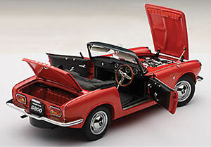 Autoart HONDA S800 ROADSTER 1966 RED Color 1/18 Scale. New Release!
