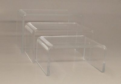 Small Clear Acrylic Display Risers Set Of 3