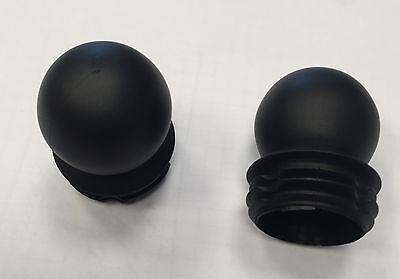 Zaunpfosten, Torpfosten, Pfostenkappe rund schwarz, für Durchmesser 60 mm ()