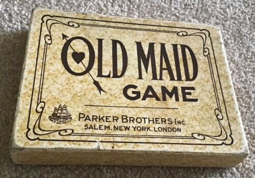 Parker Brothers Vintage Old Maid Card Game Very Early Version