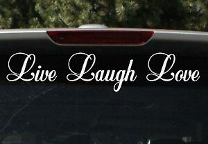 LIVE LAUGH LOVE STICKER DECAL TATTOO FOR GIRLS CAR WINDOW 15 COLORS