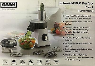 BEEM Schneid-FIXX Gemüsehobel Küchenmaschine Gemüseschneider Käsereibe Raspel