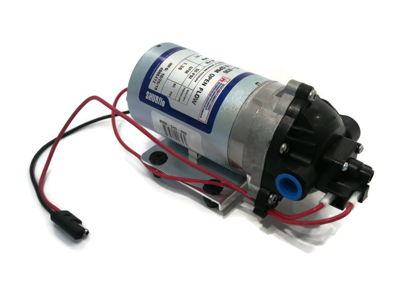Shurflo 12v Volt Demand Water Pump W Wiring Harness Lawn Yard Chemical Sprayer
