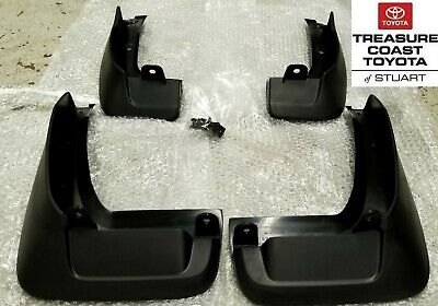 NEW OEM TOYOTA HIGHLANDER 2014 2019 ALL MODELS MUDGUARD KITS WITH SCREWS