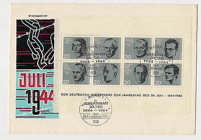 BRD - Briefmarken - 1964 - ETB/FDC - Block 3 - Sonderstempel - Ersttagsstempel