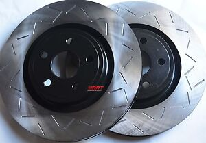 Fits Mustang Shelby GT500 Slotted Brake Rotors Premium Grade Front Pair