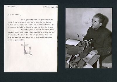 Albert Speer ARCHITECT autograph, typed letter signed & mounted