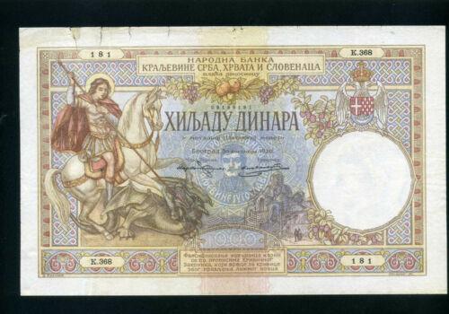 Yugoslavia 1000 dinara 1920 (1929) P24 - VF-