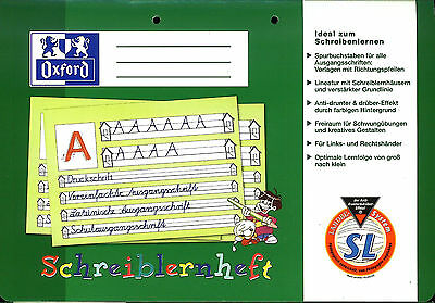 Schreiblernheft SL von OXFORD DIN A4 quer Lineatur SL für 1.Klasse