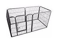 BRAND NEW Ellie-Bo Heavy Duty Modular Puppy Exercise Play/ Whelping Pen, 158 x 77 x 80 cm 6 Pieces