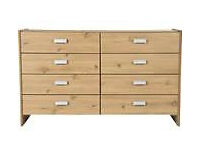 Brand new 4+4 pine effect drawers