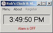 Rob's Clock & Alarm - for your computer desktop
