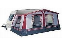 Bargain 16ft Pullman Caravan Motor Home Camping Awning Tent Hardly Used Curtains Peg Wardrobe Skirt