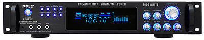 Audio Preamplifier - Pyle P3001AT 3000 Watts Hybrid Pre-Amplifier w/AM FM Tuner DJ Pro Audio