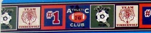 NIB ATHLETIC CLUB WALL BORDER 15 FEET FOOTBALL SOCCER  # 1