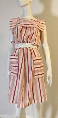 80s Dresses | Casual to Party Dresses Authentic Vintage 1980's Striped Dress $26.21 AT vintagedancer.com