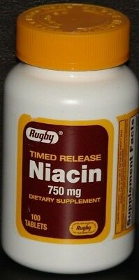 Watson Rugby Niacin 750 mg, Timed Release, 100 Tablets ()