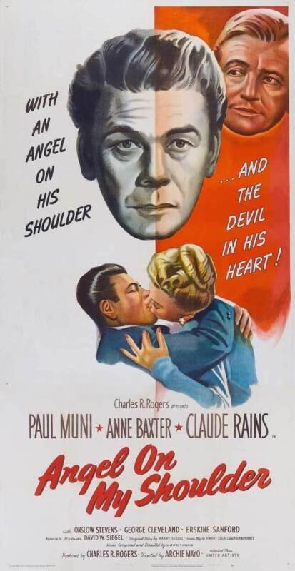 ANGEL ON MY SHOULDER Movie POSTER 20x40 Paul Muni Anne Baxter Claude Rains