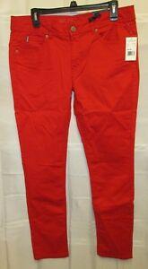 NWT-U-S-Polo-Assn-15-16-Red-Kate-Skinny-Pants-35x30-034-Stretch