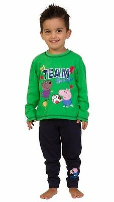 Team George Pig Football Pyjamas 2 to 5 Years  W15 Peppa Pig